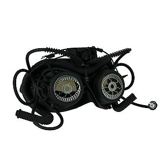 Steam Vision Black Steampunk Eyes Phantom Goggle Costume Mask