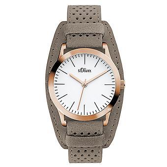 s.Oliver kvinnors watch armbandsur läder SO-3221-LQ