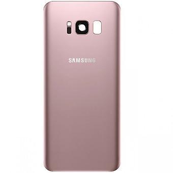Cubierta de batería Samsung GH82-13962E para Galaxy S8 G950 G950F + cojín adhesivo rosa