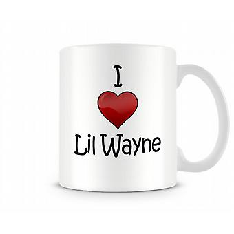 Ik hou van Lil Wayne bedrukte mok