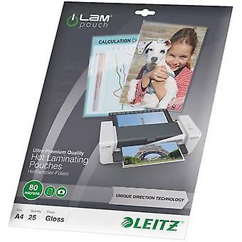 Leitz laminaatti arkki A4 80 mikronin kiiltävä 25 PC (s)
