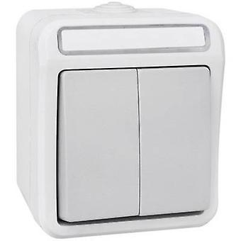 Peranova 102445 Wet room switch product range Series switch Pera Light grey, Dark grey