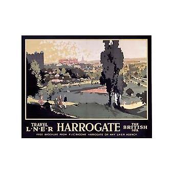 Harrogate britiske Spa (gamle Lner E.kr.) Køleskabsmagnet