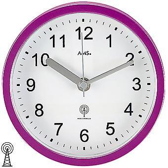 Wall clock / table clock radio purple waterproof bathroom clock plastic housing