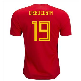 2018-19 Spanje Home Shirt (Diego Costa 19)