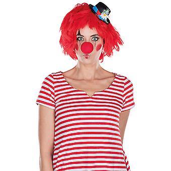 Clown peruk röd Kobold tillbehör Carnival Halloween Strubbelkopf