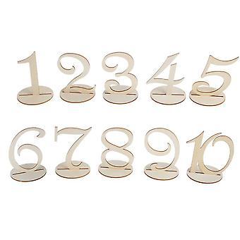 TRIXES mesa de casamento de madeira numeradas cartões colocação 1-10