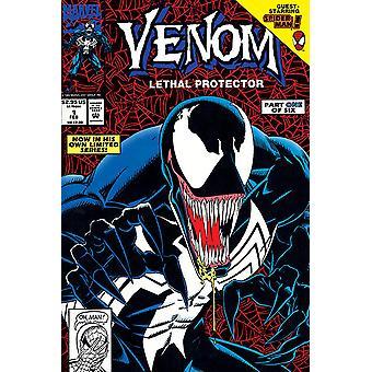 Parte de protector letal venom Marvel Comics cartel 1