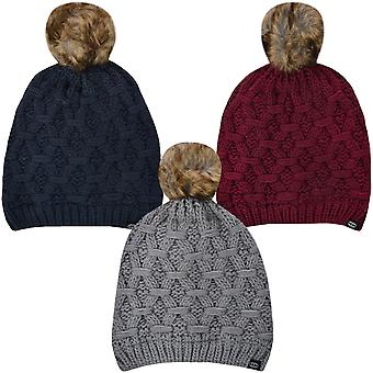 ProClimate Womens Thinsulate Waterproof Winter Knitted Pom Pom Beanie Bobble Hat