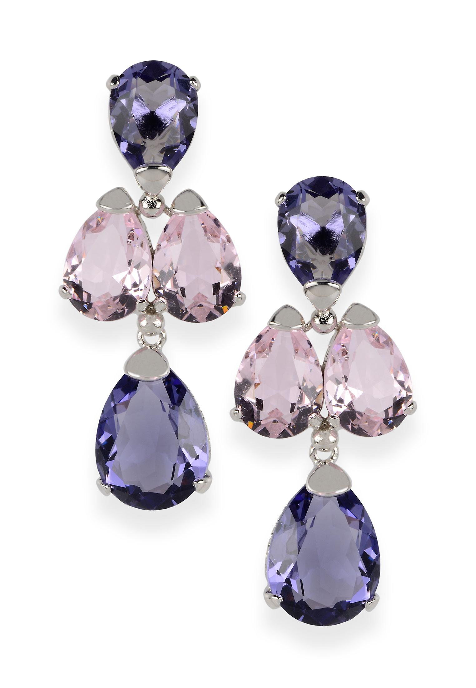 Multicolor earrings with crystals from Swarovski 4644