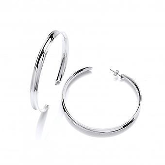 Cavendish francese argento orecchini a cerchio formato gigante