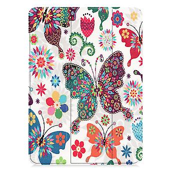 iPad Pro 11 (2018) Slim Fit Tri-ori caz-colorat butterfly