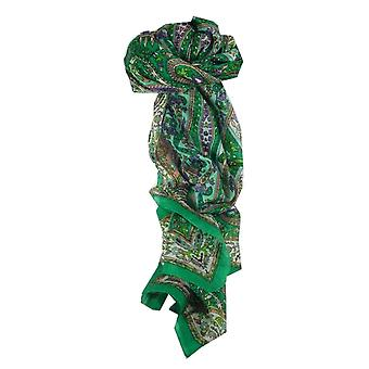 Amoreira cachecol longo tradicional Ikna Teal por Pashmina & seda