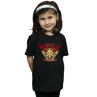 Marvel Mädchen Captain Marvel Protector Of The Skies-T-Shirt