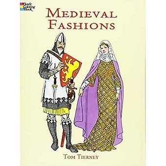 Medeltida mode målarbok (Dover mode målarbok)