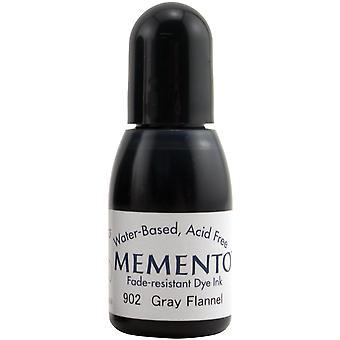 Memento Dye Ink Refill .5oz-Gray Flannel