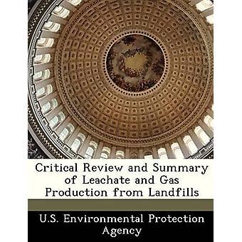 Examen critique et résumé du lixiviat et de la Production de gaz d'enfouissement par la U.S. Environmental Protection Agency