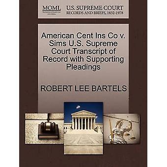 米セント・ Ins ・イン・シムズバーテルス & ロバート・リーによる嘆願をサポートするレコードの米国最高裁判所のトランスクリプト