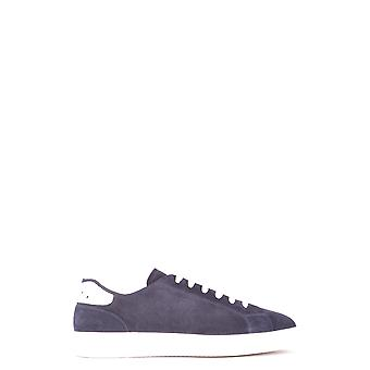 Doucal's Ezbc089025 Men's Blue Suede Sneakers