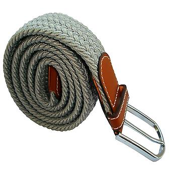 Bassin and Brown Plain Woven Belt - Light Grey