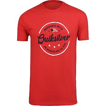 Quiksilver Mens geestelijke merkt USA T-Shirt-hoog risico rood
