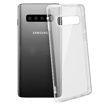 Tough rear clear case + shock absorbing silicone bumper for Samsung Galaxy S10