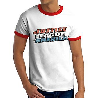 Men's Justice League Vintage Logo White T-Shirt