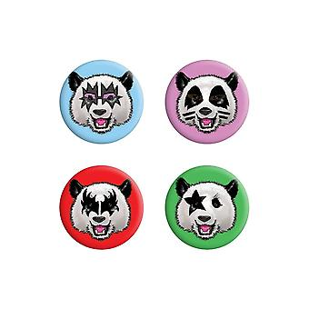 Grindstore Kiss Pandas Badge Pack