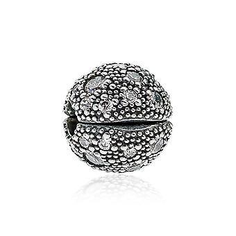 Pandora kosmische Sterne Silber & klar CZ Clip 791286CZ