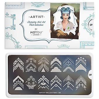 MoYou London Nail Art Bildplatte - Künstler 09 (MPART09)