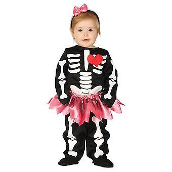 Peuters baby skelet Halloween fancy dress kostuum