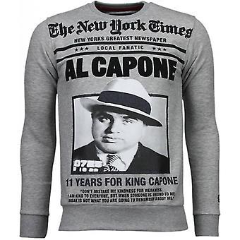 Al Capone-tekojalokivi College-harmaa