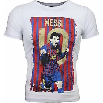 T-shirt-Messi 10 Print-White