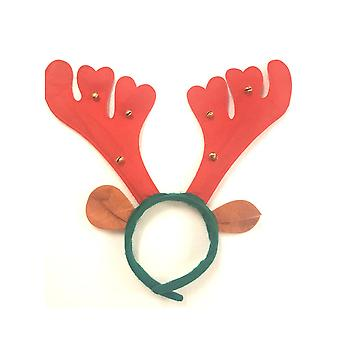 Red Reindeer Antlers with Bells