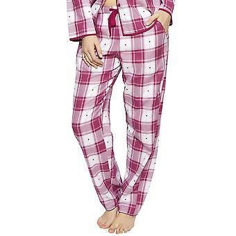 Cyberjammies 4224 Frauen's Susie Cherry Red Check Baumwolle Herz Pyjama Hose