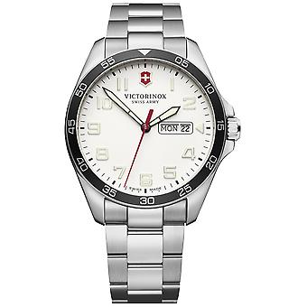 Victorinox field watch quartz analog man watch with stainless steel bracelet V241850