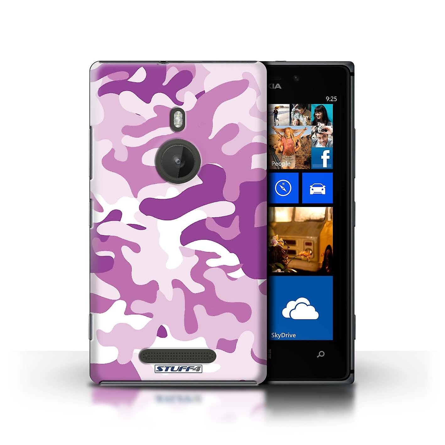 STUFF4 Case/Cover for Nokia Lumia 925/Pink 1/Camouflage Army Navy