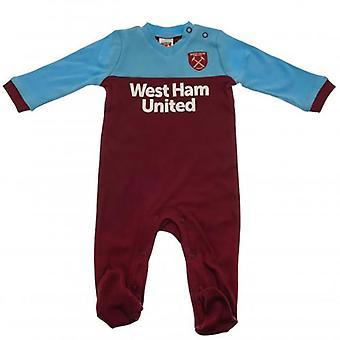 West Ham United Baby Kit Sleepsuit | 2019/20 Season