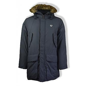 Fred Perry Padded Snorkel Parka Jacket (Charcoal)