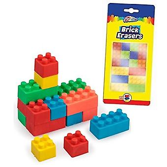 Grafix Brick Erasers, Pack of 18