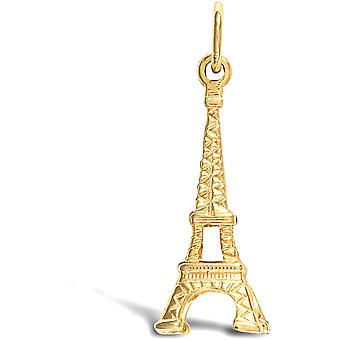 Jewelco London Solid 9ct Giallo Oro Eiffel Torre Charm Pendente