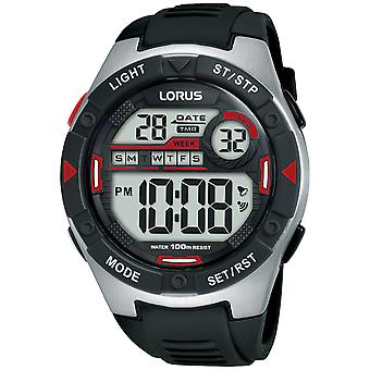 Lorus Digital Man Uhr Digital Quarz mit Silikon Armband R2393MX9
