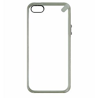 PureGear Slim Shell Case for Apple iPhone SE / 5 / 5S - Clear with Gray Trim