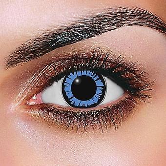 Ochi mari Dolly ochi albastru lentile de contact (pereche)