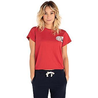Rip Curl Wetty Stripe Short Sleeve T-Shirt in Scarlet Sage