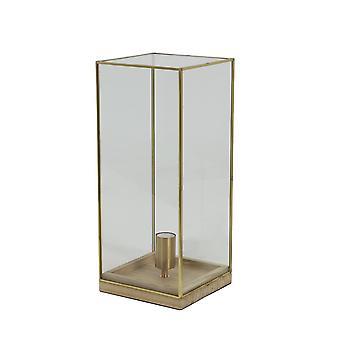 Light & Living Table Lamp 20x20x45 Cm ASKJER Wood Natural+bronze+glass