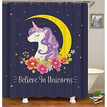 Unicorn douche gordijn