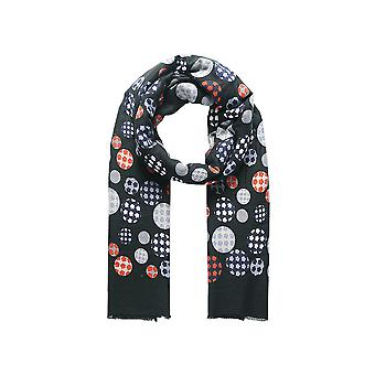 Intrigue Womens/Ladies Checked Painterly Spot Scarf