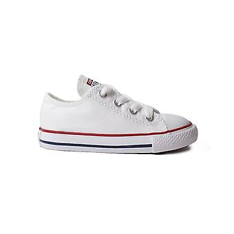 Converse Chuck Taylor All Star Ox 7J256c White Canvas Unisex Lace Up Shoes