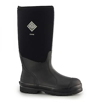 Muck Boots Chore Hi Unisex Rubber Wellington Boots Black